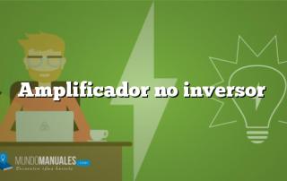 Amplificador no inversor