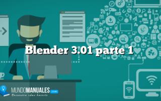 Blender 3.01 parte 1
