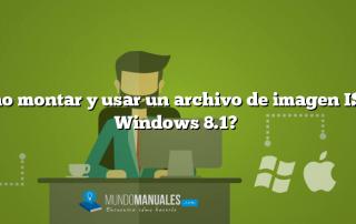 ¿Cómo montar y usar un archivo de imagen ISO en Windows 8.1?