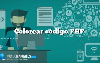 Colorear código PHP