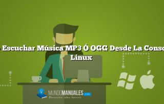 Como Escuchar Música MP3 Ó OGG Desde La Consola De Linux