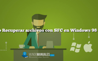 Como Recuperar archivos con SFC en Windows 98 y Me