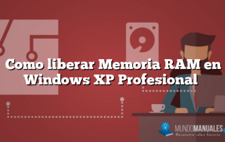 Como liberar Memoria RAM en Windows XP Profesional