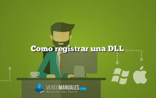 Como registrar una DLL