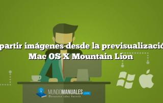Compartir imágenes desde la previsualización en Mac OS X Mountain Lion