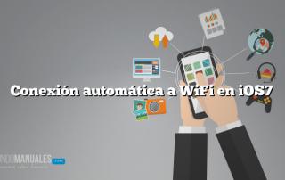 Conexión automática a WiFi en iOS7