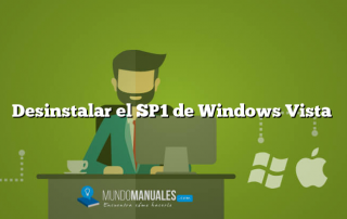 Desinstalar el SP1 de Windows Vista