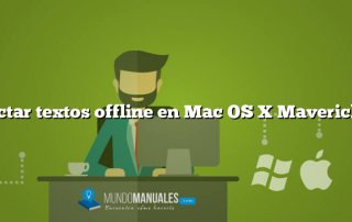 Dictar textos offline en Mac OS X Mavericks