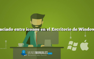 Espaciado entre iconos en el Escritorio de Windows 8