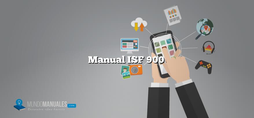 Manual ISF 900