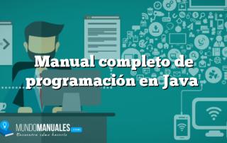 Manual completo de programación en Java