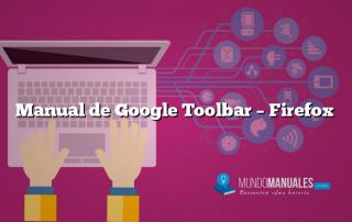 Manual de Google Toolbar – Firefox