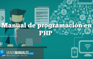 Manual de programación en PHP