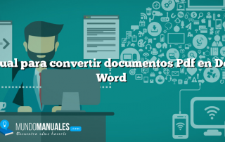 Manual para convertir documentos Pdf en Doc de Word