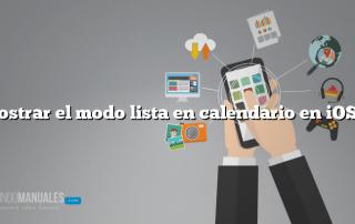 Mostrar el modo lista en calendario en iOS 7