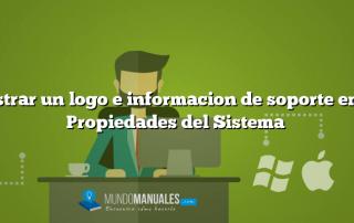 Mostrar un logo e informacion de soporte en las Propiedades del Sistema
