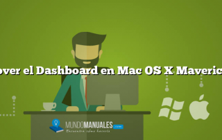 Mover el Dashboard en Mac OS X Mavericks