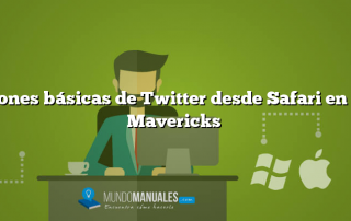 Opciones básicas de Twitter desde Safari en OS X Mavericks