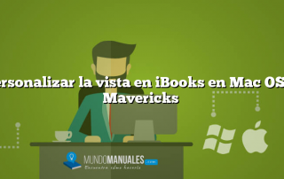 Personalizar la vista en iBooks en Mac OS X Mavericks