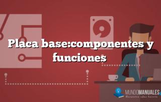 Placa base:componentes y funciones