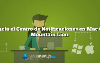 Silencia el Centro de Notificaciones en Mac OS X Mountain Lion