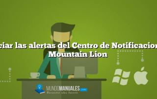 Silenciar las alertas del Centro de Notificaciones en Mountain Lion