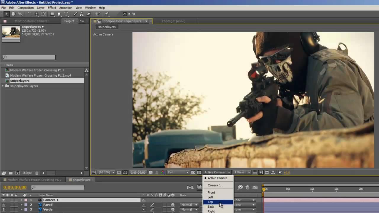 Como convertir una foto en 3d en after effects for Habitacion 3d after effects