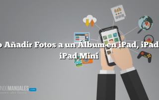 Cómo Añadir Fotos a un Álbum en iPad, iPad Air o iPad Mini