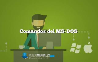 Comandos del MS-DOS