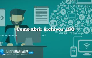 Como abrir archivos .ISO