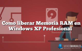 Como liberar Memoria RAM en Windows XP Profesional