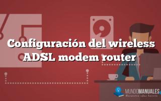 Configuración del wireless ADSL modem router