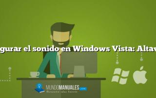 Configurar el sonido en Windows Vista: Altavoces