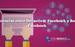 Diferencias entre Desactivar Facebook y Borrar Facebook