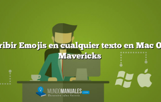 Escribir Emojis en cualquier texto en Mac OS X Mavericks