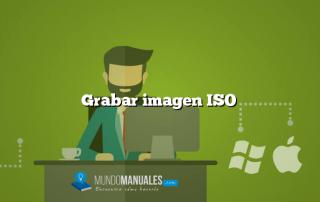 Grabar imagen ISO