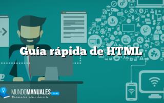 Guía rápida de HTML