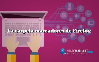 La carpeta marcadores de Firefox