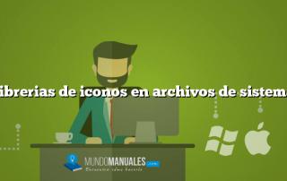 Librerias de iconos en archivos de sistema