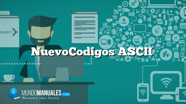 NuevoCodigos ASCII