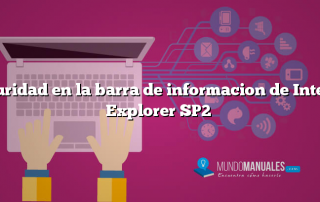 Seguridad en la barra de informacion de Internet Explorer SP2