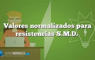 Valores normalizados para resistencias S.M.D.